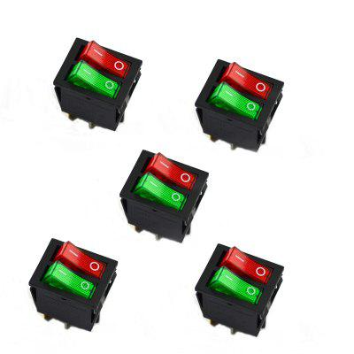 6Pin 5Pcs / Set Double Button Switch