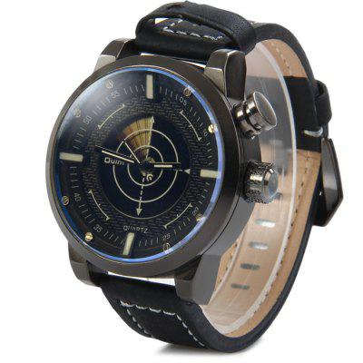 Oulm 3558 Dual Movt LED Scanning Male Digital Quartz Watch