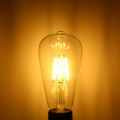 YouOKLight 6W E27 COB Edison Sapphire 6 LED Ball Bulbs Teardrop Filament Retro Light Bulb ( 3000K 580Lm AC 110V )