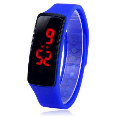 HZ5 Rode digitale led sport horloge datum functie rubberen band polshorloge