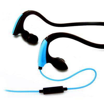 Buy BLUE MDR-J039 Sweat Resistant 3.5mm Stereo Hand-Free Headphone for iPhone / iPod / MP3 / Tablet / Laptop Silicone Ear-Tips Outdoor Sports Earphone for $7.28 in GearBest store