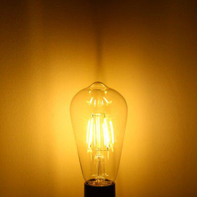 YouOKLight 4W E27 COB Edison Sapphire LED Ball Bulb Teardrop Filament Retro Light (3000K 380Lm AC 110V)
