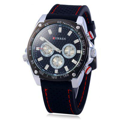 Curren 8146 Male Quartz Watch with Decorative Sub-dials Rubber Band