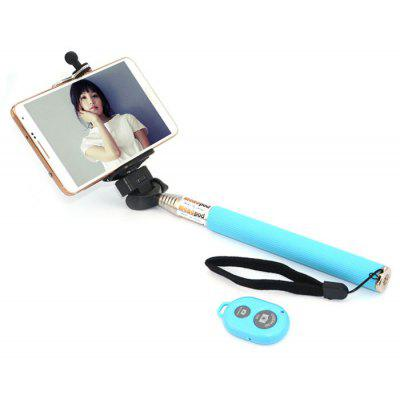 CL-70 Portable Camera Selfie Monopod Pole with Bluetooth RC Self Timer and Phone Stand