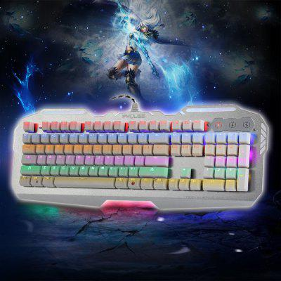 Buy WHITE FMOUSE K901 RGB 6 Backlight Wired Gaming Mechanical Keyboard without Conflict Support Windows XP Vista 7 8 Mac for $89.44 in GearBest store