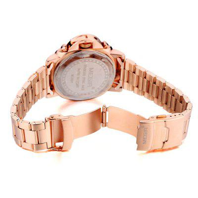 MEGIR 3006 Date Function Japan Quartz Male Watch Water Resistance with Stainless Steel Band broadcloth xxxl 3006