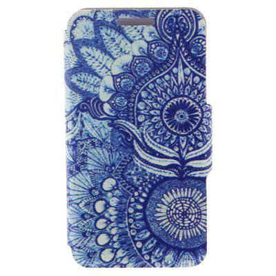 Kinston Stand Design Blue Sunflower Pattern Phone Cover Case for Huawei Ascend P7