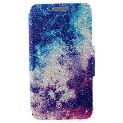 Kinston Card Holder PU Leather Phone Cover Case with the Milky Way Design for Huawei Ascend P7