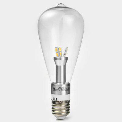 YouOKLight 6W E27 580Lm 12 SMD 3014 LED Lights Retro Edison Filament Bulb Lamp - Warm White 110VEdison Bulbs<br>YouOKLight 6W E27 580Lm 12 SMD 3014 LED Lights Retro Edison Filament Bulb Lamp - Warm White 110V<br><br>Angle: 270 degree<br>Available Light Color: Warm White<br>Brand: YouOKLight<br>Bulb Base Type: E27<br>CCT/Wavelength: 3000K<br>Emitter Types: SMD 3014<br>Features: Retro Edison Style<br>Function: Home Lighting, Studio and Exhibition Lighting, Commercial Lighting<br>Luminous Flux: 580Lm<br>Output Power: 6W<br>Package Contents: 1 x YouOKLight Light Bulb<br>Package size (L x W x H): 17 x 7 x 7 cm / 6.68 x 2.75 x 2.75 inches<br>Package weight: 0.13 kg<br>Product size (L x W x H): 16 x 6 x 6 cm / 6.29 x 2.36 x 2.36 inches<br>Product weight: 0.070 kg<br>Sheathing Material: Glass<br>Total Emitters: 12<br>Type: Ball Bulbs<br>Voltage (V): AC 110