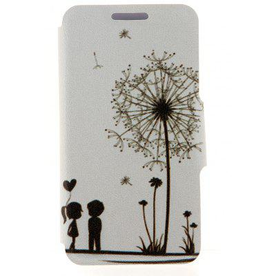 Dandelion Pattern Cover Case PU and PC Material with Stand for Nokia Lumia 625