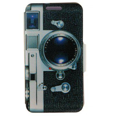 Camera Pattern Cover Case PU and PC with Stand for Nokia Lumia 625