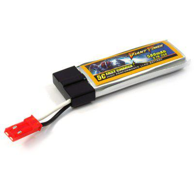 Giant Power Battery 3.7V 580mAh 25C for NineEagle 328A / Wltoys V929 Birdlady / Blade 120SR MQX