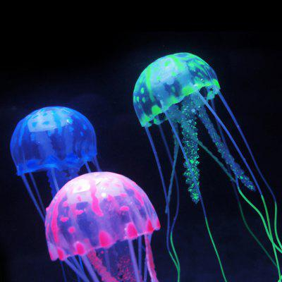 5cm Artificial Vivid Silicone Jellyfish For Fish Aquarium