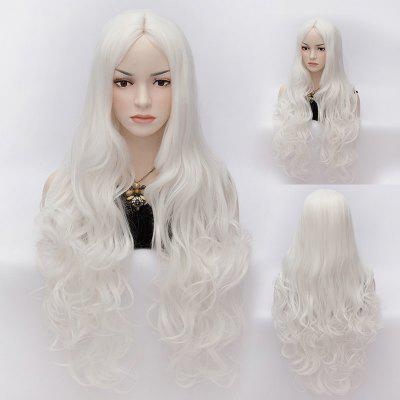 Charming Long Sophisticated Wave Heat Resistant Synthetic Capless Wig For Women
