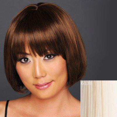 Buy BLONDE 613# Charming Straight Short Bob Capless Neat Bang Heat Resistant Synthetic Wig For Women for $15.02 in GearBest store
