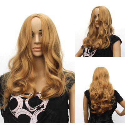 Pretty Charming Fluffy Long Wavy Centre Parting Synthetic Hair Stylish Women s Capless Blonde Wig 136190201