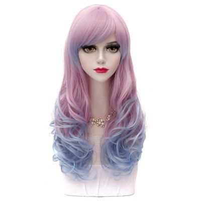 Lolita Anime Hairstyle Design 60CM Side Bang Long Wavy Synthetic Harajuku Stylish Ombre Cosplay Wig