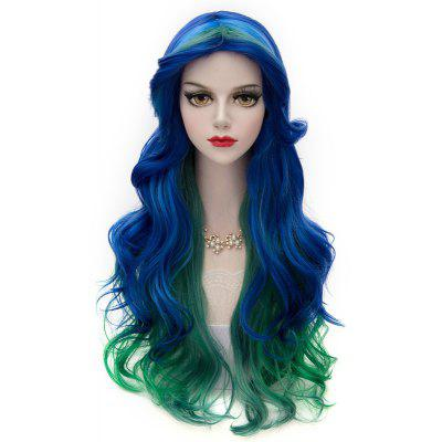 Vogue Multi-Colored Synthetic Lolita Cosplay Towheaded Wavy Long Centre Parting Capless Women's Wig