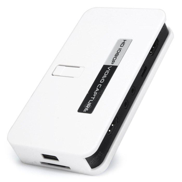 HD 1080P Video Capture HDMI Recorder with SD Card Slot for XBox 360 One PS3  PS4