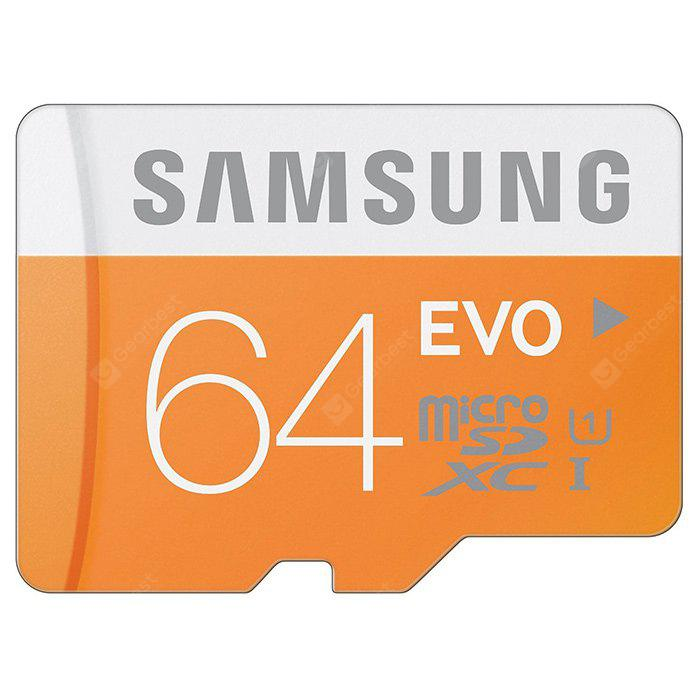 Samsung 64GB EVO Micro SDXC Memory Card 48MB/s Class 10 Waterproof X-ray Proof