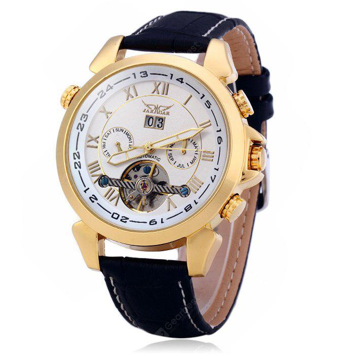 Jaragar H057M Genuine Leather Band Men Automatic Mechanical Watch