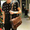 cheap Retro Style Stitching and Solid Color Design Men's Messenger Bag