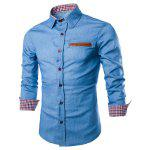 Buy LIGHT BLUE, Apparel, Men's Clothing, Men's Shirts for $15.81 in GearBest store