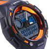 Skmei 1015 Sports LED Watch Double Movt 50M Water Resistant Alarm Date Day Display Army Wristwatch - ORANGE