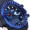Skmei 1063 Water Resistant Double Movt Sports Watch with Big Dial Rubber Band - BLUE