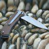 HARNDS CK6015 Portable Line Locking Folding Knife Viper 9Cr18MoV Stainless Steel Blade - BROWN