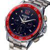 Tevise 356 Date Day Display Masculino Automatic Mechanical Watch - VERMELHO COM BRANCO