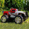 YED 24886 - 2 40MHz RC Racing Car 4WD 1 / 10 Scale Amphibious Stunt Vehicle Model Toy - YELLOW / RED