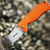 GANZO G722 - OR Small Line Locking Foldable Knife Stainless Steel Blade - ORANGE