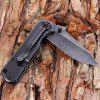 Sanrenmu 7010 LUY-SHF Pocket Knife Survival Tool - BLACK