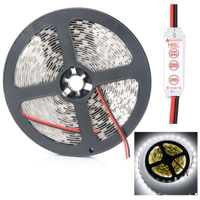 HML 5m SMD 5050 LED Strip LightLED Strips<br>HML 5m SMD 5050 LED Strip Light<br><br>Actual Lumens: 5800Lm<br>Brand: HML<br>CCT/Wavelength: 3300K,6500K<br>Chip Brand: Epistar<br>Connector Type: Wired<br>Features: Cuttable, Low Power Consumption<br>Input Voltage: DC12<br>LED Type: SMD-5050<br>Length: 5m<br>Material: FPC<br>Model: 56WP<br>Number of LEDs: 300<br>Optional Light Color: White,Warm White<br>Package Contents: 1 x HML SMD 5050 LED Strip Light, 1 x 3-Key Controller, 1 x HML SMD 5050 LED Strip Light, 1 x 3-Key Controller<br>Package size (L x W x H): 15 x 15 x 2.2 cm / 5.90 x 5.90 x 0.86 inches, 15 x 15 x 2.2 cm / 5.90 x 5.90 x 0.86 inches<br>Package weight: 0.120 kg<br>Product size (L x W x H): 13 x 13 x 1.2 cm / 5.11 x 5.11 x 0.47 inches<br>Product weight: 0.085 kg<br>SMD: 5050<br>Theoretical Lumens: 6000Lm<br>Type: LED Strip