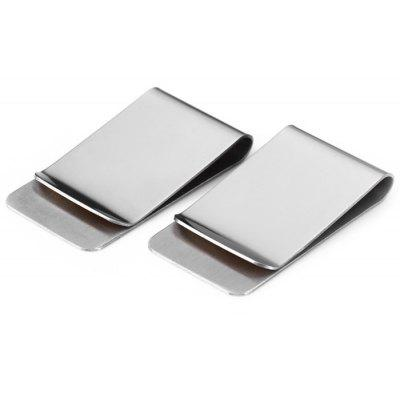 2Pcs EDCGEAR Mini Retro 304 Stainless Steel Money Clip