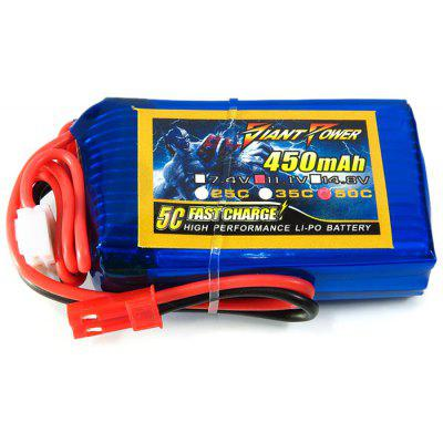 Giant Power Battery 450mAh 11.1V / 3S 50C Fitting for Blade 180 CFX RC Helicopter