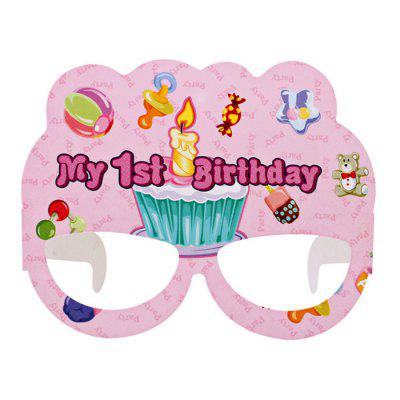 1st Birthday Design Paper Eye Mask