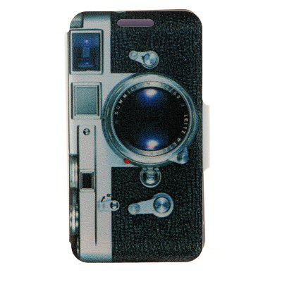 Kinston PU Material Flip Stand Cover Case with Camera Pattern for Samsung Galaxy Note 4