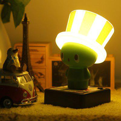 Funny Dwarf Girlwill LED Night Light USB Cap Shaped Table Lamp