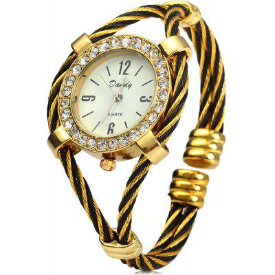 Dandy 221 Steel Wire Strap Diamond Watch Female Quartz Bracelet
