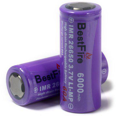 2 x BestFire IMR 26650 6000mAh 3.7V Rechargeable Li-ion Battery LI-MP