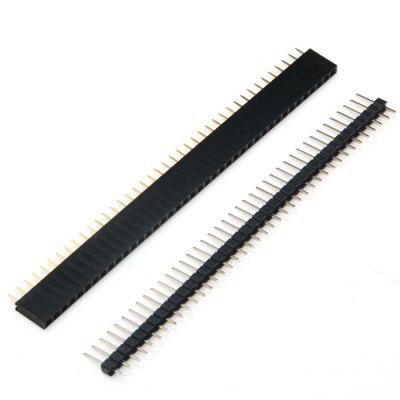 40P Male Female Pin Header SIL Socket Row Strip PCB Connector