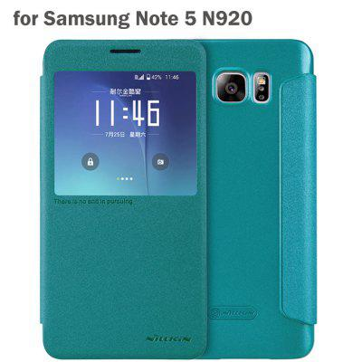 Nillkin View Window Design Phone Protective Cover Case with PU Leather and PC Material for Samsung Galaxy Note 5 N9200