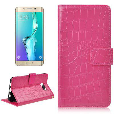 Angibabe Luxury Crocodile Line PU Leather Folio Protective Case with Card Solt Wallet for Samsung Galaxy S6 Edge Plus