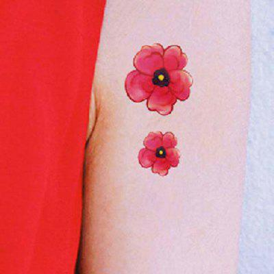 Chic Flower Pattern Waterproof Tattoo Sticker For Women