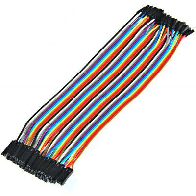 40PCS DuPont hembra a mujer Jumper Wire 20cm
