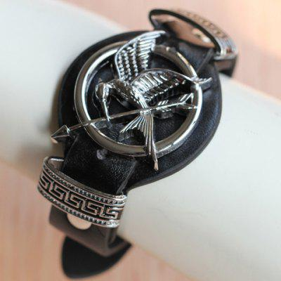 Stylish The Hunger Games Mockingbird Arrow Faux Leather Bracelet For Women