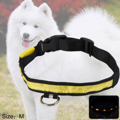 LED Light Point Pet Collar Yellow Light