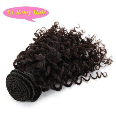 Fluffy Dark Brown Curly 5A Remy Hair 1 Piece/Lot Women's Indian Human Hair Weft 8-26 Inch